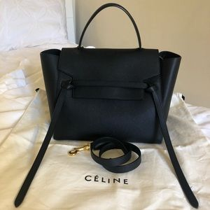 Celine Mini Belt Bag in Black